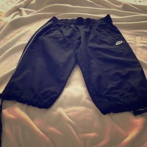 Nike cotton Capris with tie leg bottoms
